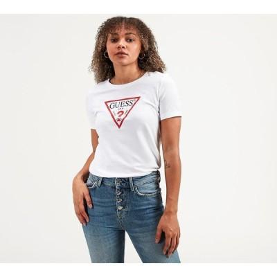 ゲス Guess レディース Tシャツ トップス short sleeve original t-shirt True White