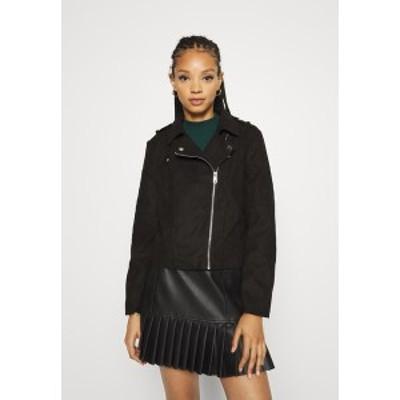 ジェイディーワイ レディース ジャケット&ブルゾン アウター Faux leather jacket - black black