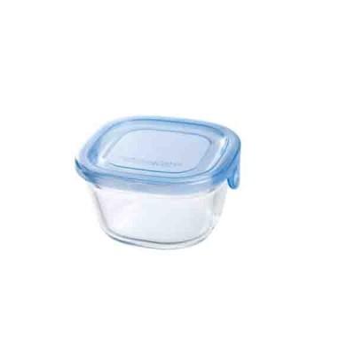 耐熱ガラス食品保存容器 オーブン皿 冷蔵庫対応 電子レンジ対応 200ml アクアブルー