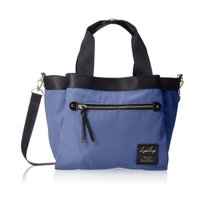 legato largo] tote bag high-density nylon tone poly-10 pocket middle tote bag LH-F1051 Blue 並行輸入品