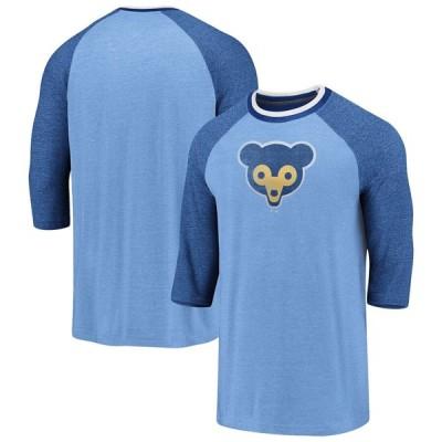 シカゴ・カブス Cooperstown True Classics Logo Raglan 3/4-Sleeve T-シャツ