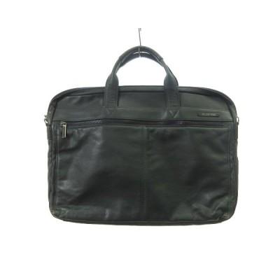 【中古】MARUEM マルエム BELLINO NERO ビジネスバッグ ハンドバッグ ブリーフケース カウレザー 牛革 緑 グリーン 鞄 IBS86 メンズ 【ベクトル 古着】