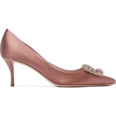 ロジェ ヴィヴィエ Roger Vivier レディース パンプス シューズ・靴 Flower crystal-embellished satin pumps Pink
