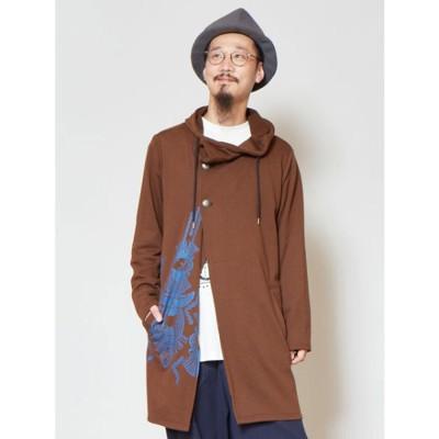 【チャイハネ】ファルコンスウェットMEN'Sフードジャケット ブラウン
