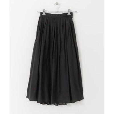 URBAN RESEARCH/アーバンリサーチ ボックスタックエアリーロングスカート BLACK FREE