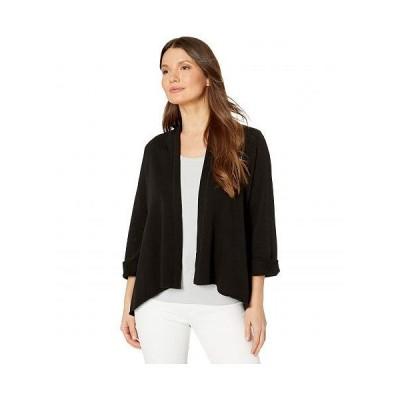 Lilla P リラP レディース 女性用 ファッション セーター French Terry Open Cardigan - Black