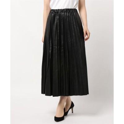 スカート 【HONEYSUCKLE ROSE】フェイクレザースカート