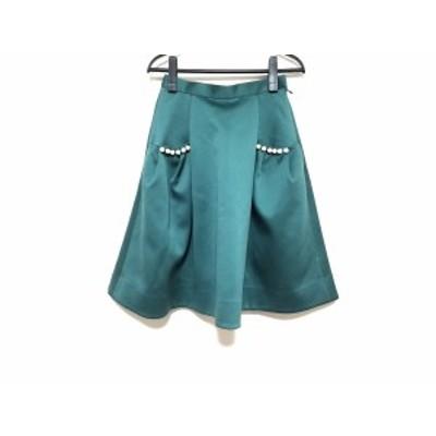 チェスティ Chesty スカート サイズ00 XS レディース 美品 グリーン フェイクパール【中古】20200515