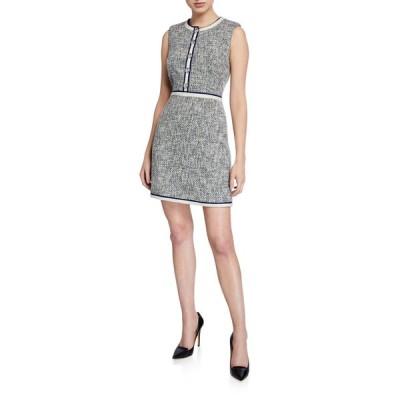 ヴェロニカ ベアード レディース ワンピース トップス Julie Sleeveless Tweed Dress with Buttons