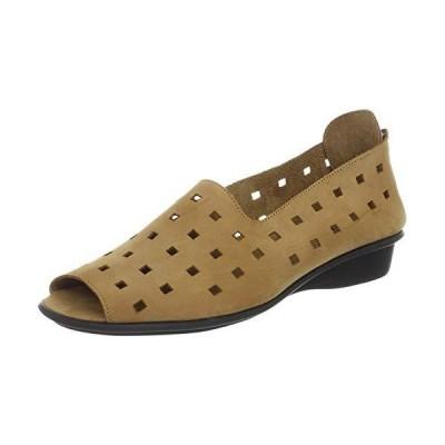 Sesto Meucci womens Evonne flats shoes, Viso Camel Nabuk, 6 US