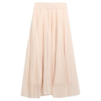 EUROPEAN CULTURE ロングスカート ベージュ L コットン 99% / ポリウレタン® 1% ロングスカート
