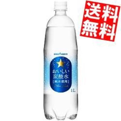 【送料無料】ポッカサッポロ おいしい炭酸水 1000mlペットボトル 12本入[のしOK]big_dr
