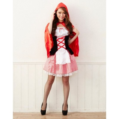 KORENARA 赤ずきん 女性 レディース 親子でお揃い ハロウィン 衣装 コスプレ 仮装 コスチューム