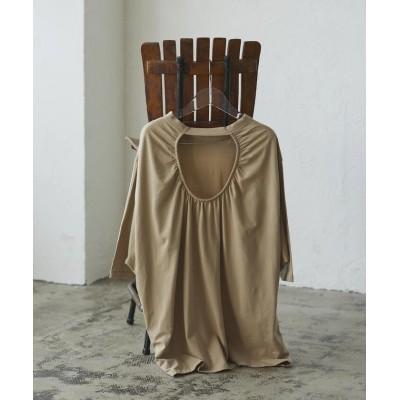 【ケティシェリー】 ゆるさの中に見せる女らしさ オープンバックTシャツ レディース ベージュ M ketty cherie