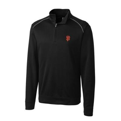 サンフランシスコ・ジャイアンツ Cutter & Buck Ridge WeatherTec Half-Zip Pullover ジャケット - Black