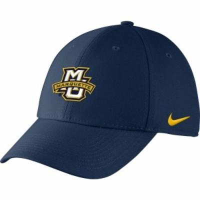 ナイキ Nike メンズ キャップ 帽子 Marquette Golden Eagles Blue Swoosh Flex Hat