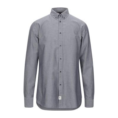 トラサルディ ジーンズ TRUSSARDI シャツ ダークブルー 40 コットン 100% シャツ