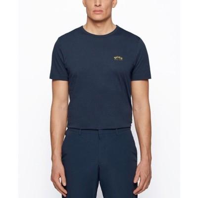 ヒューゴボス ポロシャツ トップス メンズ BOSS Men's Jersey Regular-Fit T-Shirt Medium Blue