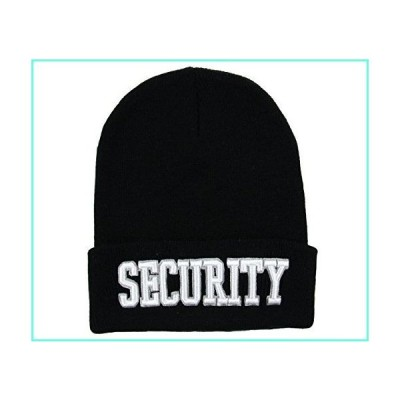 RW Security Embroidered Cuff Knitted Beanie (Black/White)並行輸入品