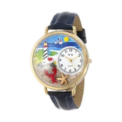 腕時計 気まぐれなかわいい プレゼント WHIMS-G1210013 Lighthouse Watch in Gold (Large)