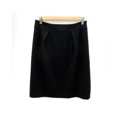 【中古】リフレクト Reflect スカート フレア ひざ丈 無地 ウール 9 黒 ブラック /SY16 レディース 【ベクトル 古着】
