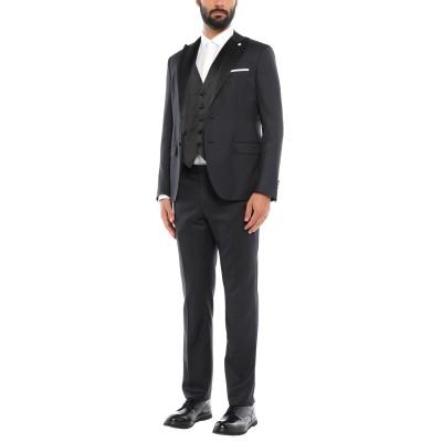 パオローニ PAOLONI スーツ ブラック 54 バージンウール 73% / ポリエステル 27% スーツ