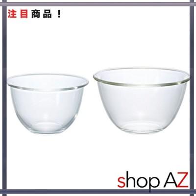 HARIO(ハリオ) 耐熱ガラス ボウル 2個セット 1500/2200ml 日本製 MXP-2606