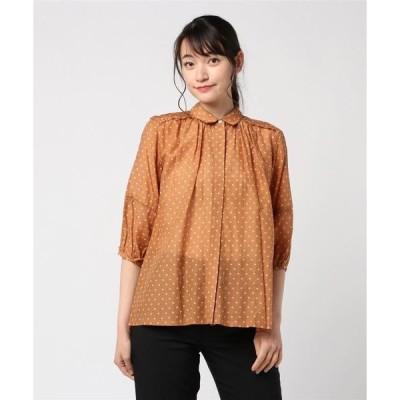 シャツ ブラウス TROVATAドットシャツ【大きいサイズ対応】【9号(M)〜15号(3L)】