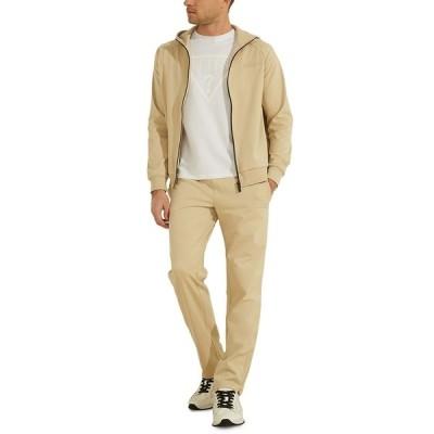 ゲス カジュアルパンツ ボトムス メンズ Men's Active Zip Sweatpants White Jaspe