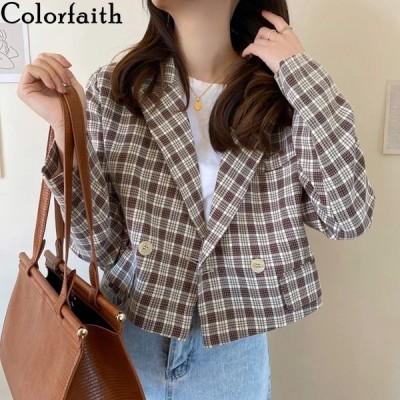 海外輸入アパレル Colorfaith New 2020 Autumn Winter Women's Blazers Pockets Jack