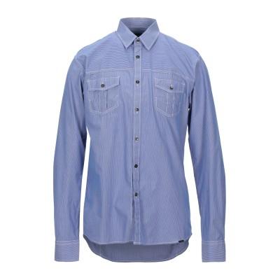 SELECTED HOMME シャツ ブライトブルー L コットン 100% シャツ