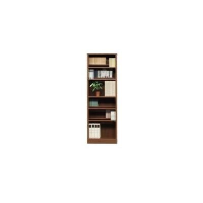 ds-1747594 本棚/ブックシェルフ 【幅60cm】 高さ180cm 可動棚板8枚付き 木目調 日本製 ブラウン 【完成品】【代引不可】