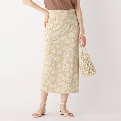 エージー バイ アクアガール AG by aquagirl ジャカードジャージタイトスカート (レモンイエロー)