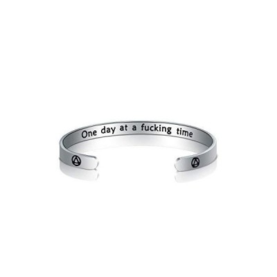 TGBJE One Day at A Time Bracelet Sobriety Gift Addiction Recovery Gift AA B
