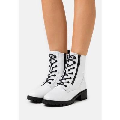 エスプリ レディース 靴 シューズ KONSTANZ - Lace-up ankle boots - white