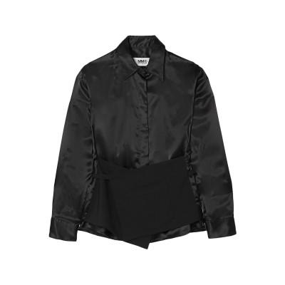 MM6 メゾン マルジェラ MM6 MAISON MARGIELA シャツ ブラック 36 レーヨン 100% / バージンウール / コットン シ