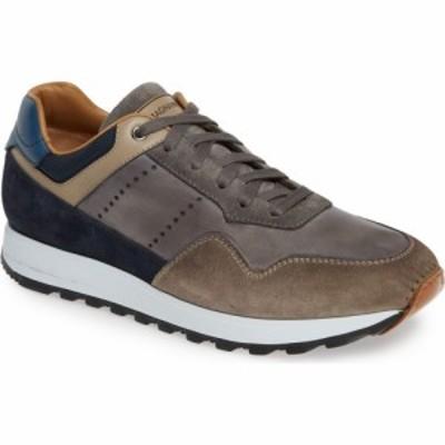 マグナーニ MAGNANNI メンズ スニーカー シューズ・靴 Varenna Sneaker Grey/Navy Leather