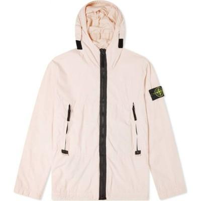 ストーンアイランド Stone Island メンズ ジャケット フード アウター Nylon Garment Dyed Hooded Jacket Antique Rose