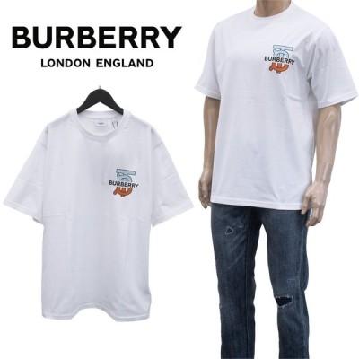 バーバリー BURBERRY Tシャツ 半袖 8032186-A1464 WHITE