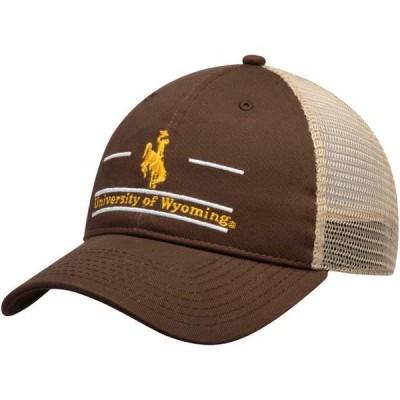 ユニセックス スポーツリーグ アメリカ大学スポーツ Wyoming Cowboys The Game Split Bar Trucker Adjustable Hat - Brown - OSFA