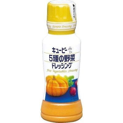 キユーピー 5種の野菜ドレッシング 180ml (12個単位でご注文ください)