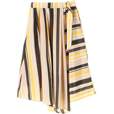 ・K ストライプベルト付スカート