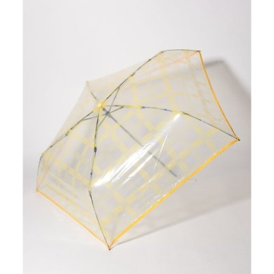【エスタ】estaa(エスタ) 透明折りたたみ傘【チェック】