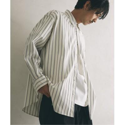 【ジャーナルスタンダード】 SLOUCHY ストライプシャツ メンズ ホワイト L JOURNAL STANDARD