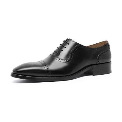 [フォクスセンス] ビジネスシューズ 本革 ストレートチップ 革靴 紳士靴 メンズ 内羽根 ドレスシューズ ブラック 26.0CM R115-01