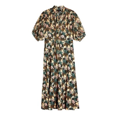 トップショップ TOPSHOP ロングワンピース&ドレス ダークグリーン 6 ポリエステル 100% ロングワンピース&ドレス