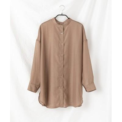 COLONY 2139 / 【WEB限定】シアーバンドカラーバックオープンシャツ WOMEN トップス > シャツ/ブラウス
