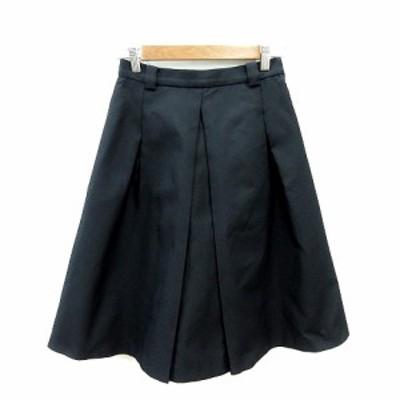 【中古】ロッソ ROSSO アーバンリサーチ フレアスカート ひざ丈 36 黒 ブラック /ST レディース