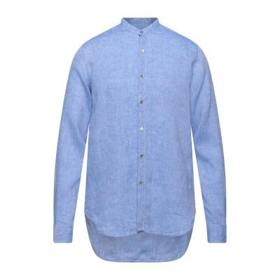 ジョルジオ アルマーニ GIORGIO ARMANI シャツ ブルー 45 リネン 100% シャツ