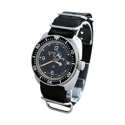 (輸入品)Amphibia 200m VOSTOK Automatic Mechanical Watch with Custom Bezel! New! 2416/710634 (Black)